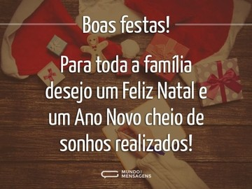 Boas festas para toda a família