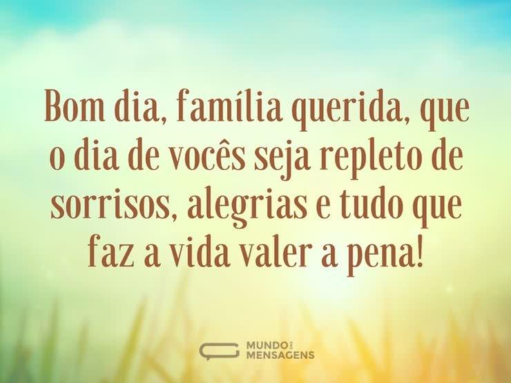 Bom Dia Familia: Um Dia De Alegrias, Família