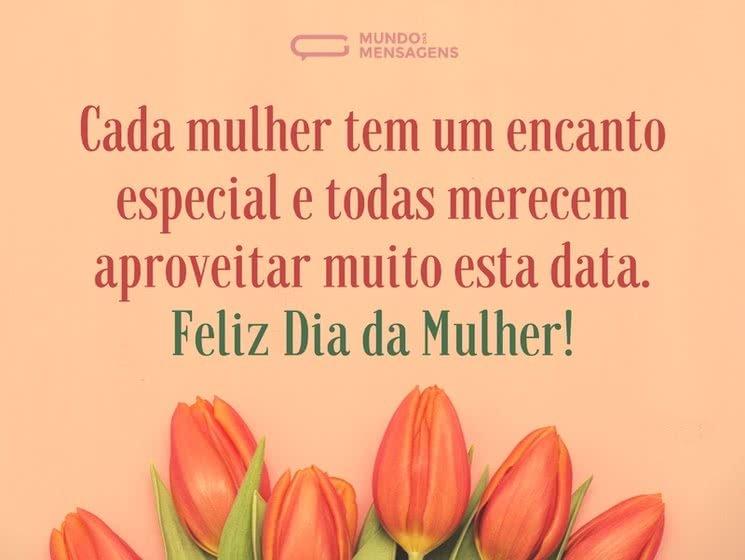 Feliz dia para todas as mulheres