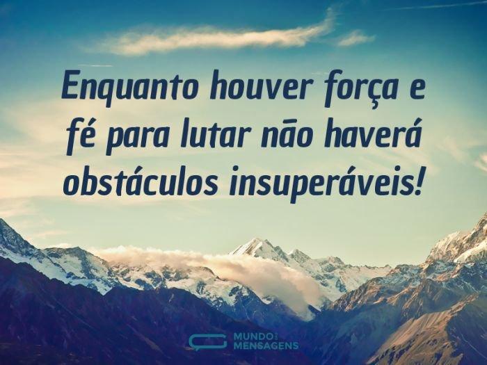 Não há obstáculos insuperáveis