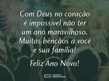 Ano Novo com Deus no coração