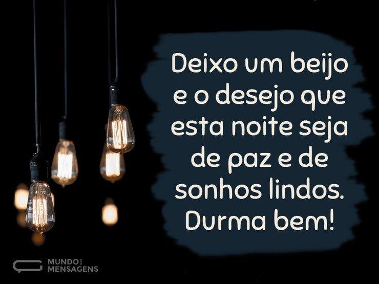 mensagem de boa noite lampadas