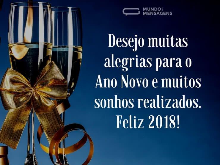 Mensagem De Feliz Ano Novo: Muitas Alegrias Para 2018