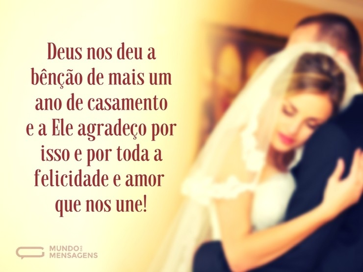 Mais Um Ano De Casamento é Uma Bênção De Deus