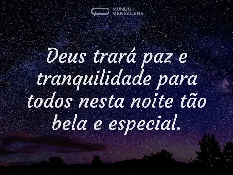 mensagem de boa noite de deus de paz