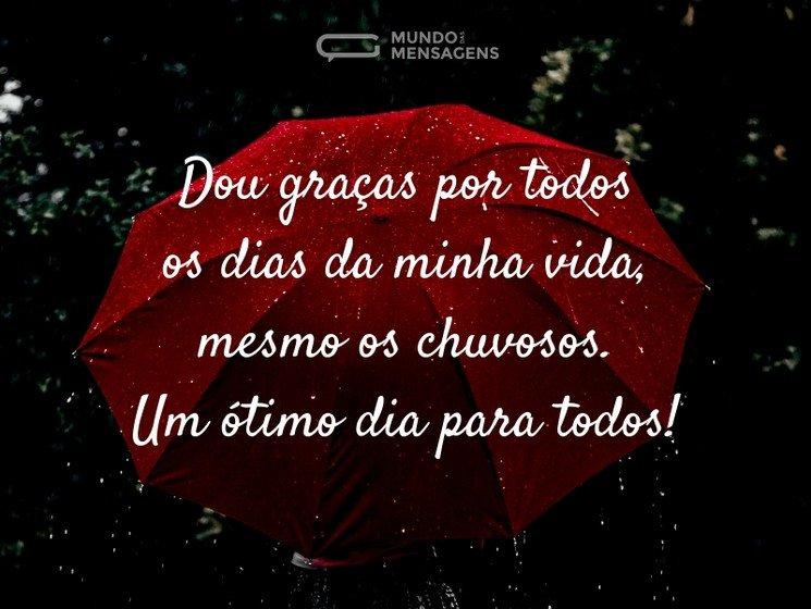 Bom Dia Com Chuva Mundo Das Mensagens