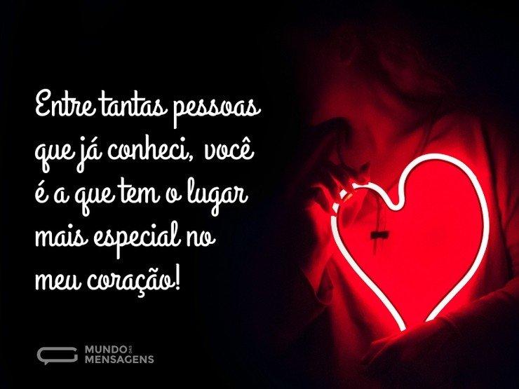 Para A Pessoa Mais Especial Do Mundo Que é Vc Meu Amor: Você Tem Um Lugar No Meu Coração