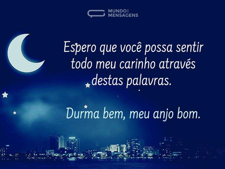 Boa Noite Com Carinho Mundo Das Mensagens