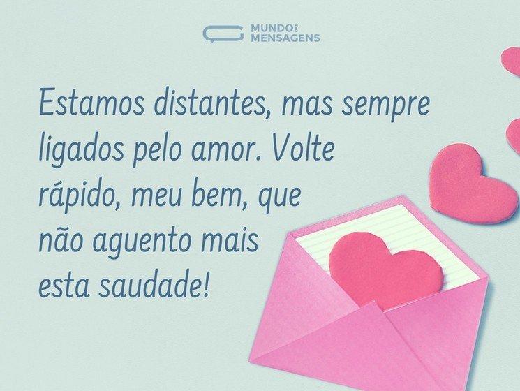 Mensagens De Saudades Do Meu Amor Mundo Das Mensagens
