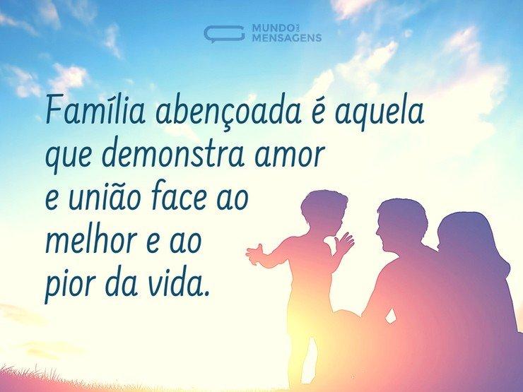 Amor é A Grande Bênção De Qualquer Família Mundo Das Mensagens