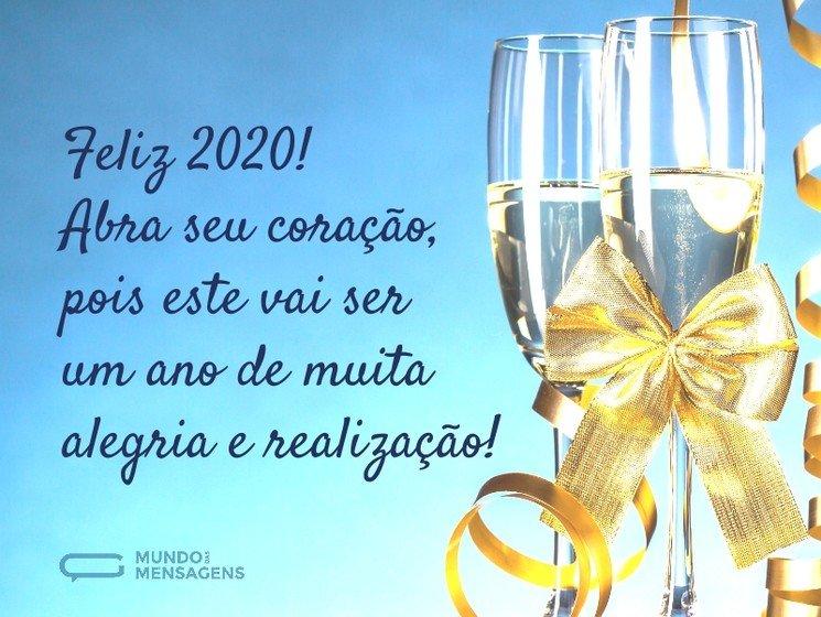 Mensagem De Feliz Ano Novo Feliz 2020 Mundo Das Mensagens