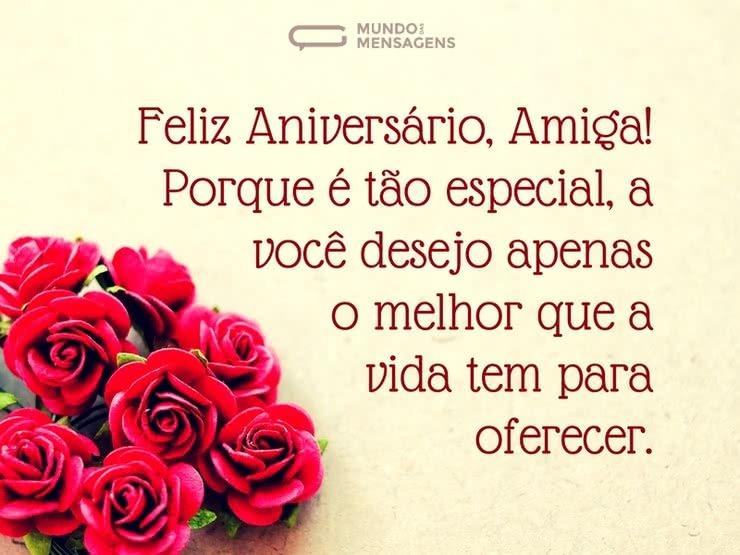 feliz aniversario Para uma Amiga Especial rosas
