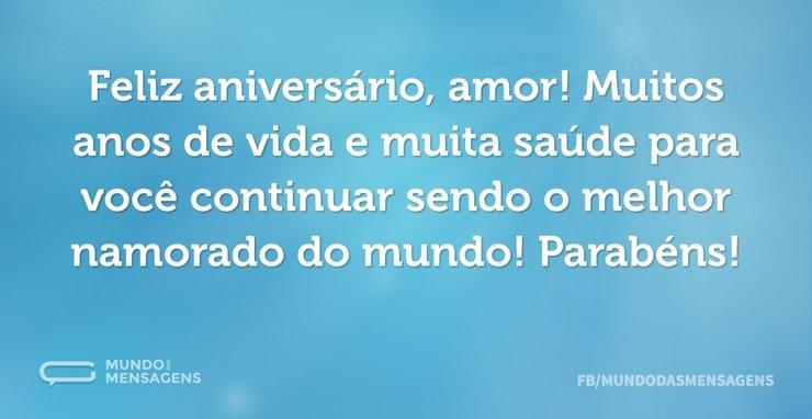 Feliz aniversário, amor! Muitos anos de ...