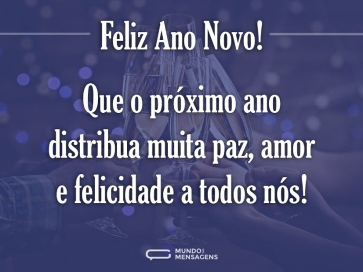 Feliz Ano Novo a todos
