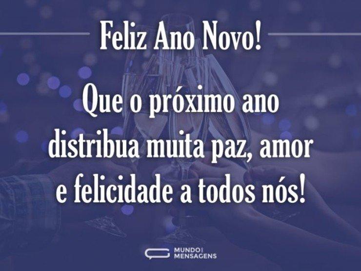 Feliz Aniversário Tia Que A Paz O Amor E A Alegria: Feliz Ano Novo A Todos