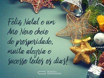 Natal feliz e Ano Novo próspero