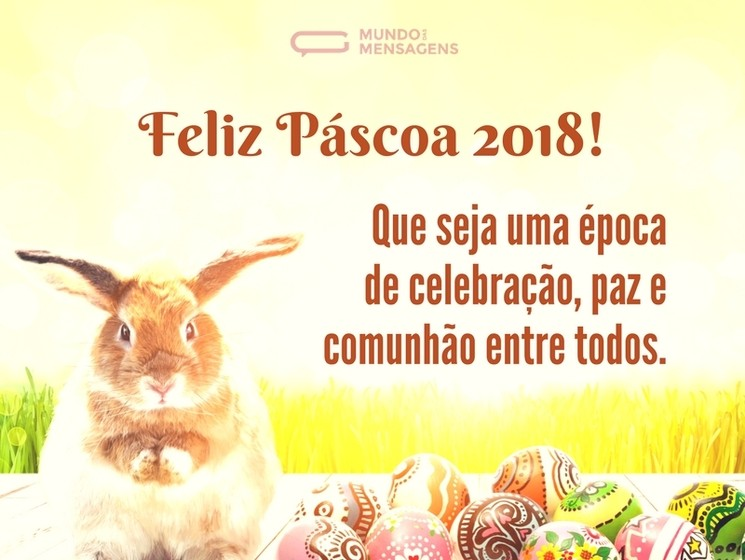 Que seja uma Feliz Páscoa para todos