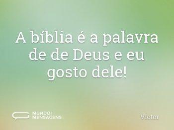 A bíblia é a palavra de de Deus e eu gosto dele!
