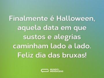 Finalmente é Halloween, aquela data em que sustos e alegrias caminham lado a lado. Feliz dia das bruxas!