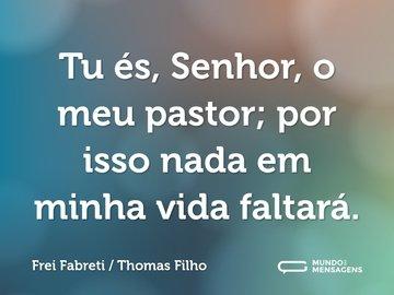 Tu és, Senhor, o meu pastor; por isso nada em minha vida faltará.