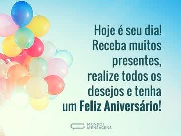 Presentes e Desejos em Dia de Aniversário