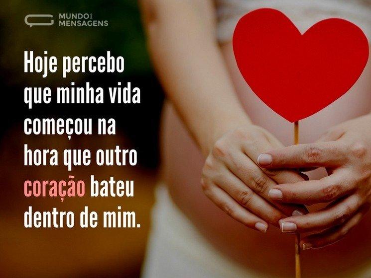 Mensagens Para Mãe Do Coração: Mensagens De Grávida