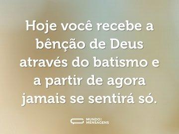 Frases De Batismo Mundo Das Mensagens