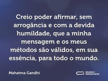 Frases De Mahatma Gandhi Mundo Das Mensagens