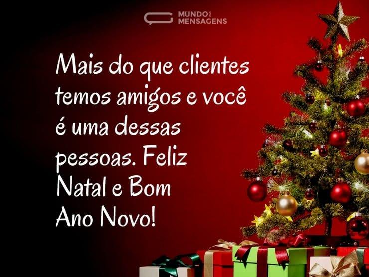 Clientes E Amigos No Natal Mundo Das Mensagens