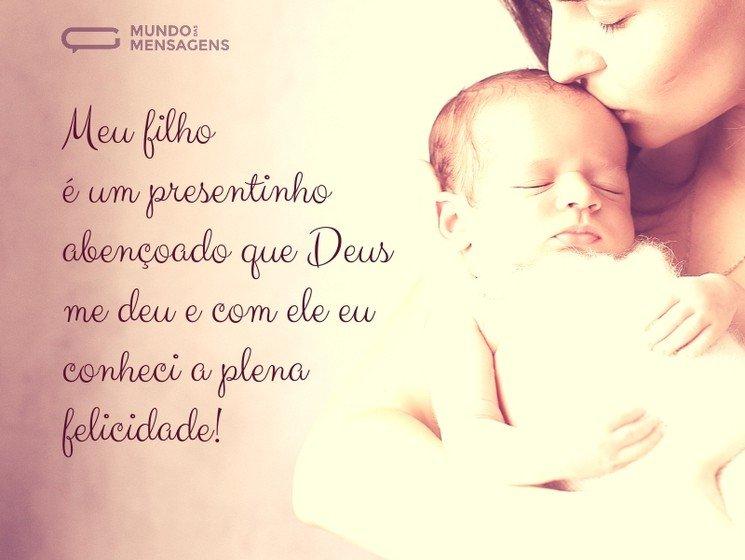 Mensagens Para Filho Bebê Mundo Das Mensagens