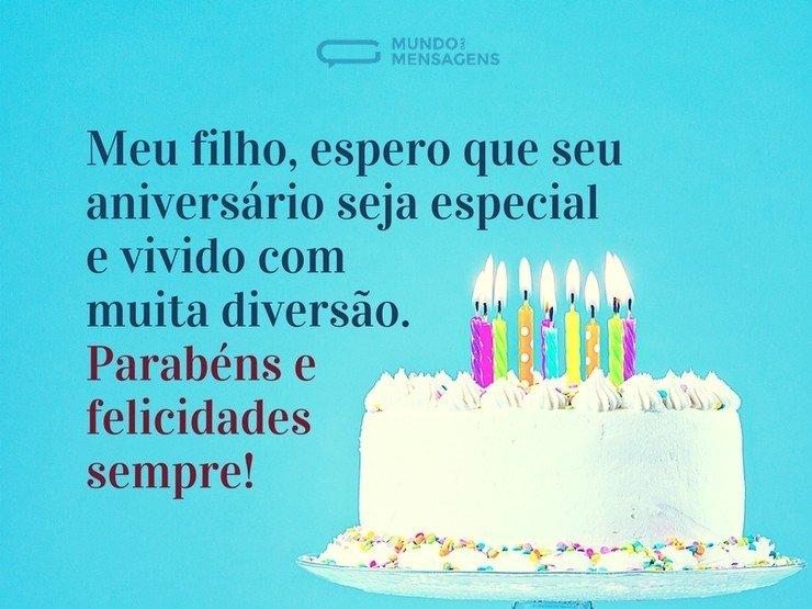Mensagem De Aniversario De Um Ano Para Filho: Um Aniversário Feliz Para Você, Filho