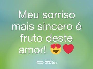 Meu sorriso mais sincero é fruto deste amor! 😍❤️