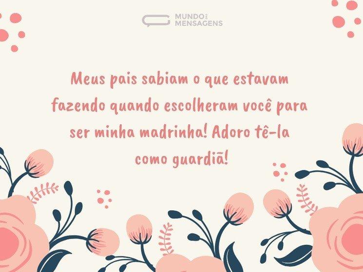 Mensagens Para Madrinha