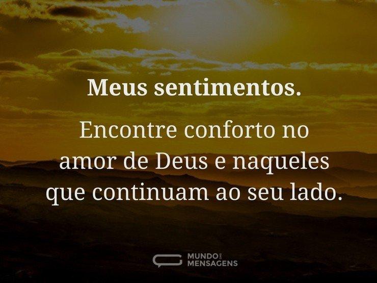 Encontre Conforto No Amor De Deus Mundo Das Mensagens