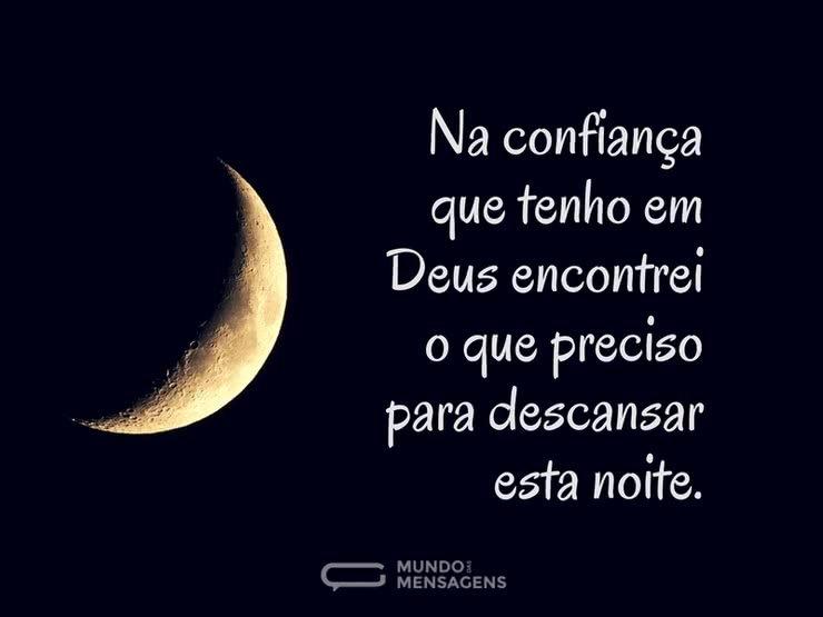 Boa Noite Muita Paz Meu Deus: A Noite E A Confiança Em Deus