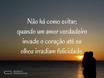 Amor verdadeiro é pura felicidade