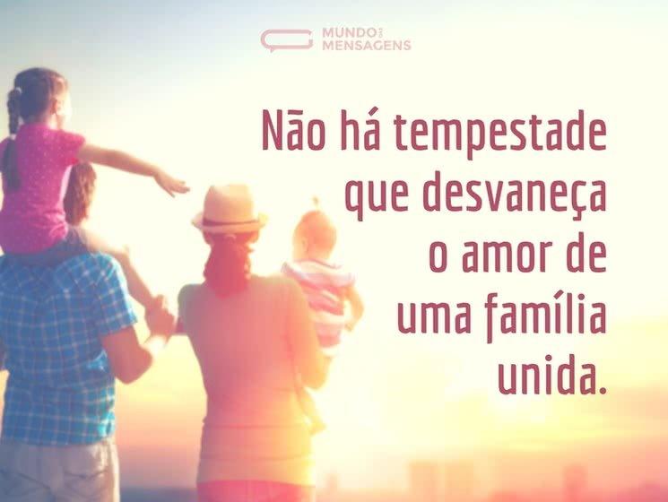 O Amor Maior De Uma Família: Mensagens De Família