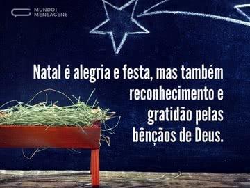 O Natal e as bênçãos de Deus