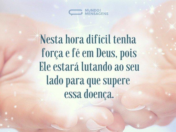 Deus ajudará você a superar a doença