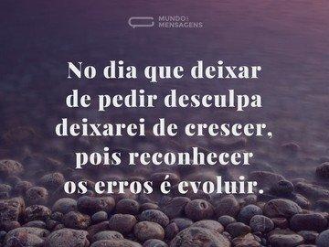 Desculpa e Evolução