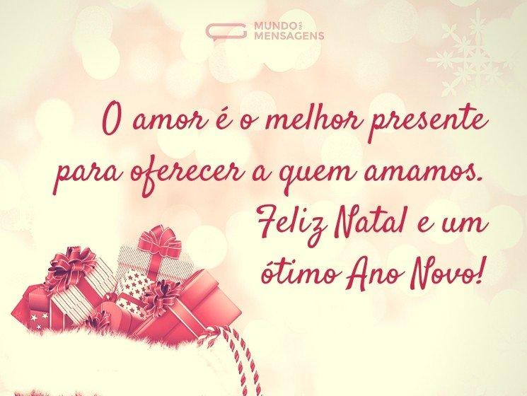 O Melhor Presente De Natal é O Amor Mundo Das Mensagens