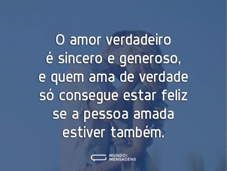 Mensagens de amor verdadeiro - Pessoa amada estiver também