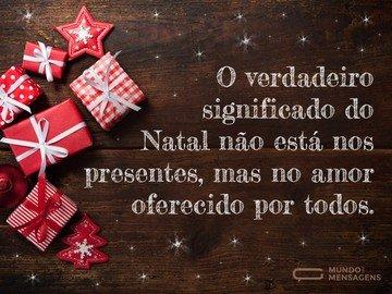 Amor e bondade para o Natal