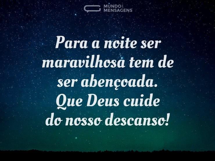 Boa Noite Mensagens Religiosa: Noite Linda, Noite Abençoada