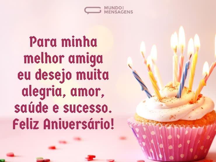 Para Minha Melhor Amiga Um Feliz Aniversário Mundo Das Mensagens