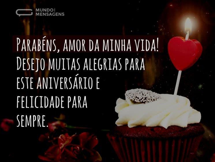 Feliz Aniversário Meu Amor Mundo Das Mensagens