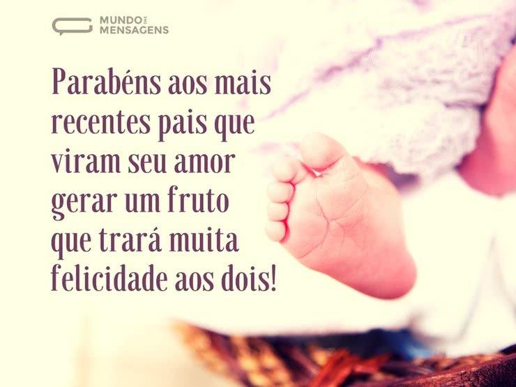 Parabéns Pela Chegada Do Lindo Bebê Mundo Das Mensagens