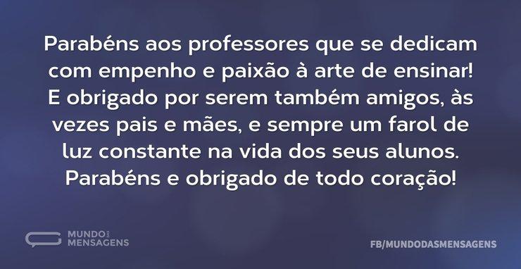 Parabéns E Obrigado, Professores