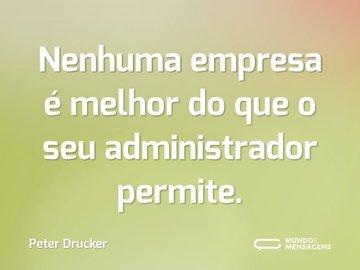 Nenhuma empresa é melhor do que o seu administrador permite.