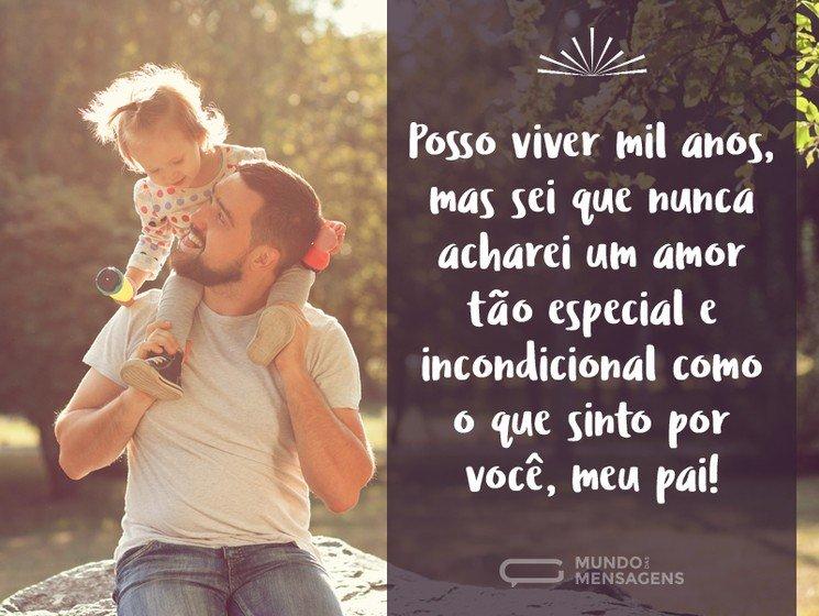 O amor mais especial, pai